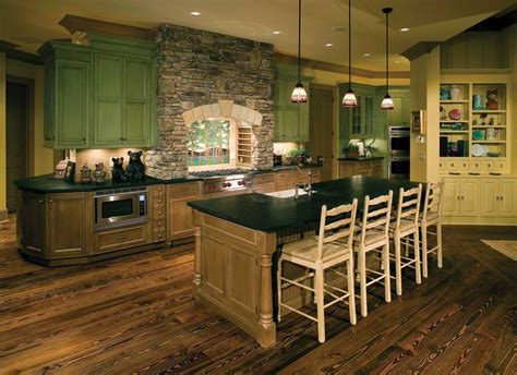 rustic green kitchen cabinets rustic shabby chic interior design google search