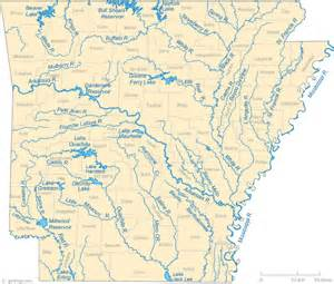 map of rivers and cities map of arkansas