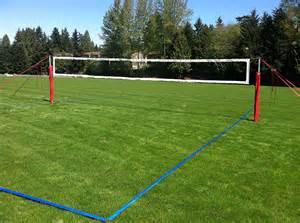 Diy Backyard Basketball Court Welch Tennis Courts Inc Volleyball Net Posts