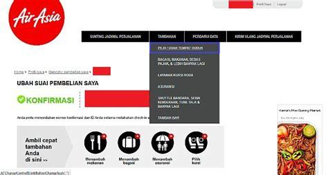 Pilih Kursi Airasia cara pilih dan ganti kursi airasia secara gratis