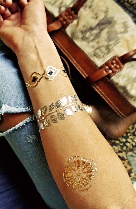 gold and silver tattoos best 25 metallic temporary ideas on