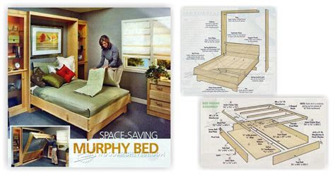 Free Murphy Bed Plans by Murphy Bed Plans Woodarchivist