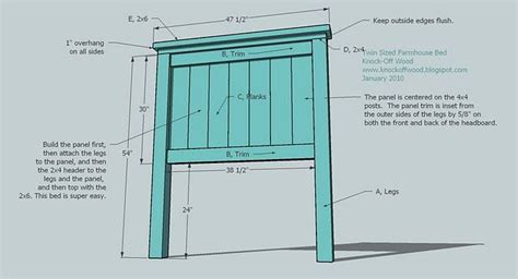 simple headboard plans build a panel headboard ana white build a twin