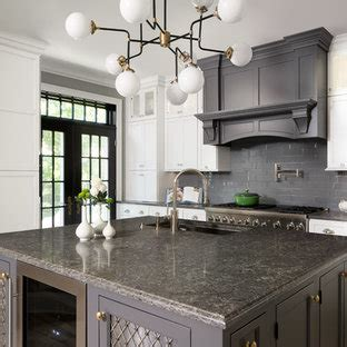 kitchens  white cabinets  gray countertops houzz