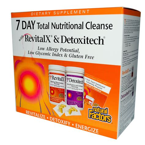 7 Day Detox Cleanse Plan by Factors 7 Day Total Nutritional Cleansing Program