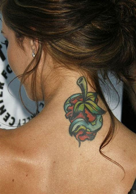 neck tattoo designs female 81 sweet neck tattoos for