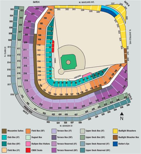 cubs stadium seating chart wrigley field seating chart