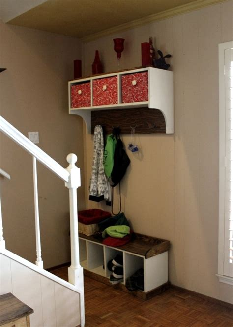 entryway bench and storage shelf with hooks ana white entryway bench and storage shelf with hooks diy projects