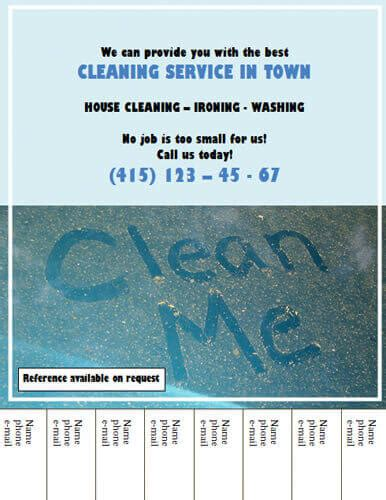 14 Free Cleaning Flyer Templates House Or Business House Cleaning Flyers Templates Free