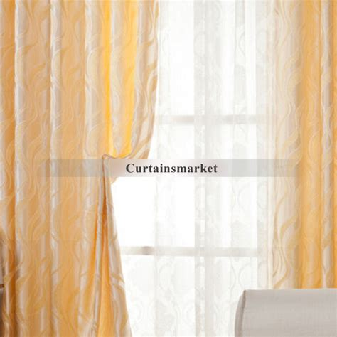Orange Patterned Curtains Orange Patterned Curtains Of Poly And Cotton Materials