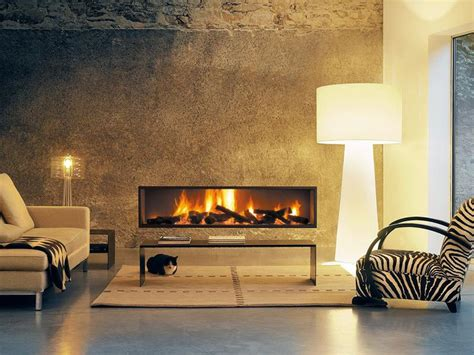 neofocus modern linear wood fireplace european home