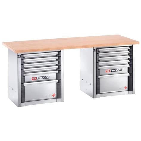 heavy duty workbench with drawers facom 2000 bb1m3 heavy duty workbench 2m 12 drawers