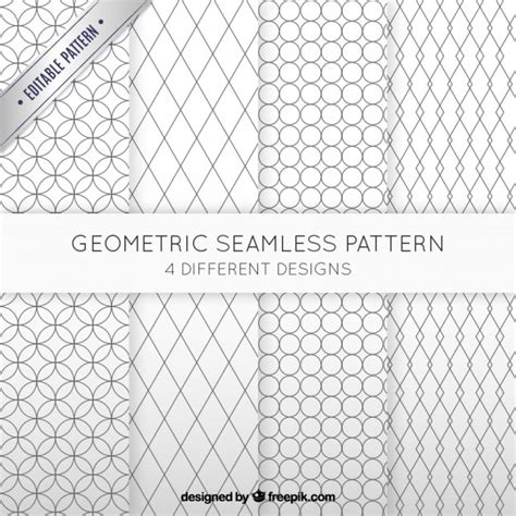 geometric seamless patterns pack vector premium download geometric seamless patterns collection vector free download