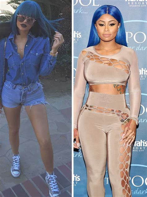 where dose k michelle get her wigs from pics blac chyna vs kylie jenner s blue hair who rocked