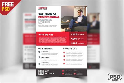 free business promotion flyer template psd download