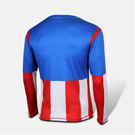 Kaos Cowok Cewek T Shirt Kaos Captain America Logo 1 kaos kostum kapten amerika lengan panjang kl05 jual