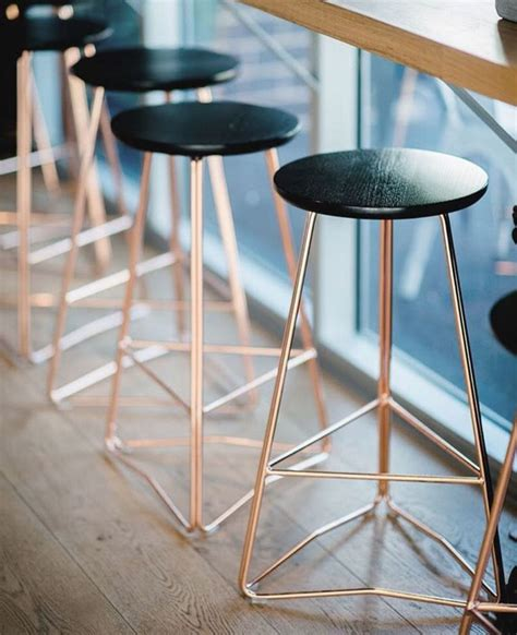 Gold Colored Stool by Gold And Black Bar Stools Ff E For Interior