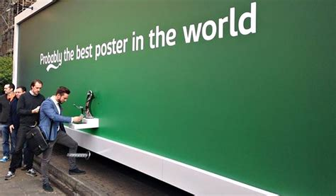 the world of beer internship cool material this carlsberg billboard dispenses beer cool material