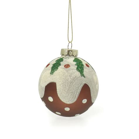 buy christmas pudding bauble decoration