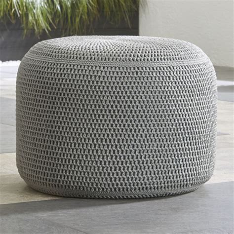 outdoor poufs and grey outdoor pouf in poufs reviews crate and barrel