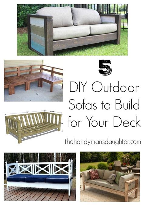 build your own outdoor couch 25 best ideas about diy outdoor furniture on pinterest