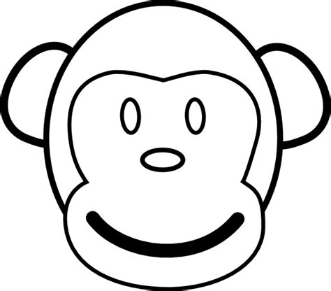 monkey clipart coloring page monkey coloring pages 2 coloring pages to print