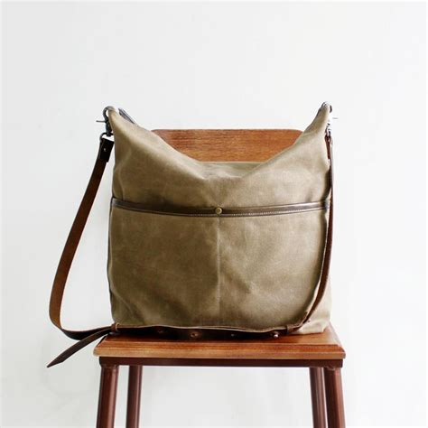 Handmade Canvas Bags - handmade canvas tote messenger bag crossbody bag s