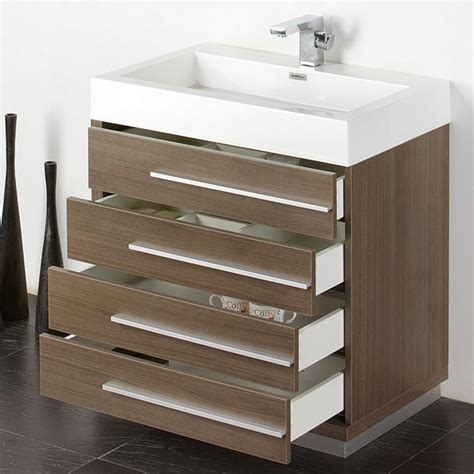 42 inch bathroom medicine cabinet fresca fvn8030go livello 29 38 inch gray oak modern