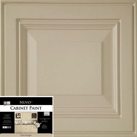 nuvo cabinet paint how to nuvo 2 qt taupe cabinet paint kit fg nu taupe r the home depot