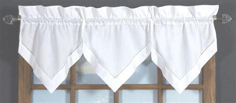 handkerchief curtains hemstitch handkerchief valance thecurtainshop com