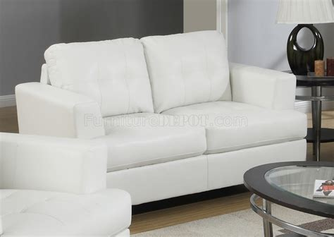 White Bonded Leather Sofa by G677 Sofa Loveseat In White Bonded Leather By