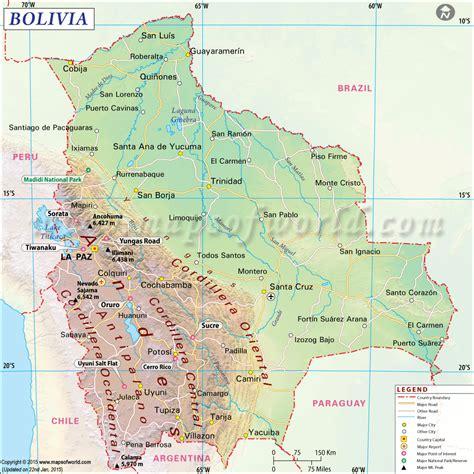 map of bolivia bolivia map map of bolivia