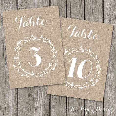 table numbers for wedding reception templates 1000 ideas about rustic table numbers on