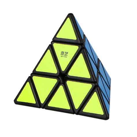 Rubik Pyraminx Qiyi Qiming A Pyraminx Speed Cube Black Base qiyi pyraminx speed cube original qiming a magic speed
