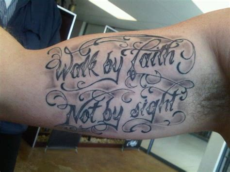 walk by faith not by sight tattoos walk by faith not by sight faith on bicep