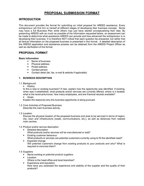 business proposal formats az5atvdw biz proposal