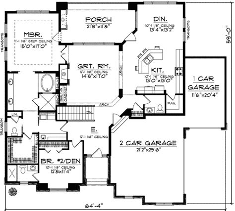 fireplace floor plan plan 89675ah great room with fireplace and wall of