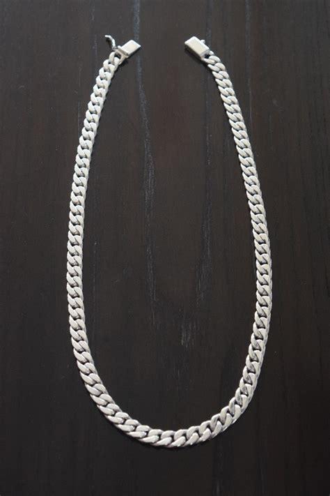 medidas de cadenas de plata para hombres cadena gruesa de plata ley 925 tejido barbado para hombre