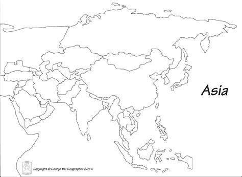 coloring page map of asia outline map of asia political with blank outline map of