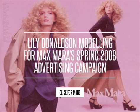 Donaldson Modelling For Max Maras 2008 Advertising Caign donaldson modelling for max mara s 2008
