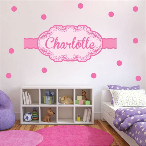 custom wall mural decals custom name wall decal pink wall stickers for