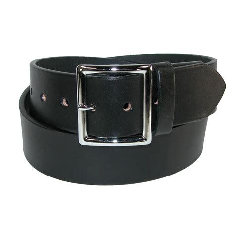 mens leather elastic stretch garrison belt by