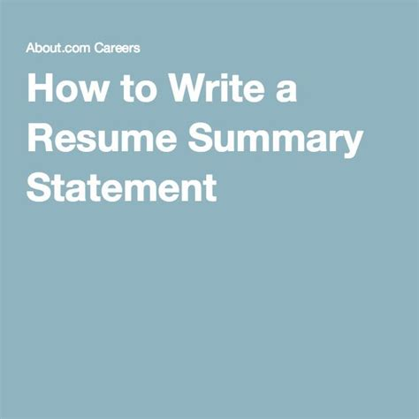 how to write a resume summary that gets interviews what to include in a resume summary statement summary