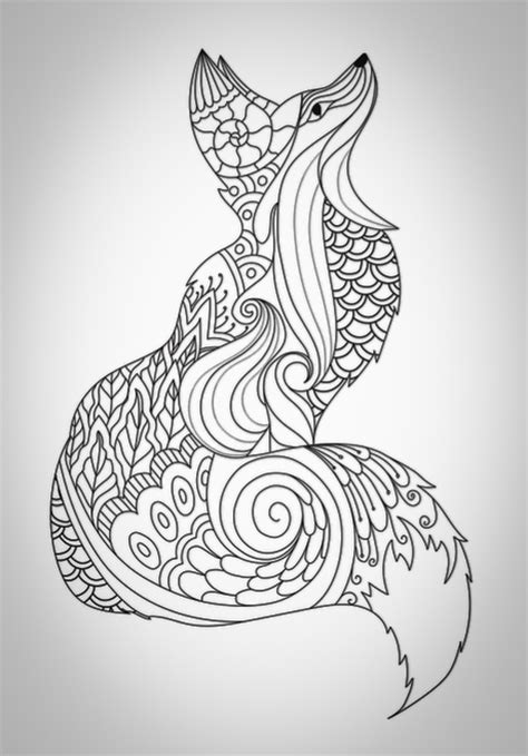 fox mandala coloring page coloring for adults on pinterest dover coloring pages