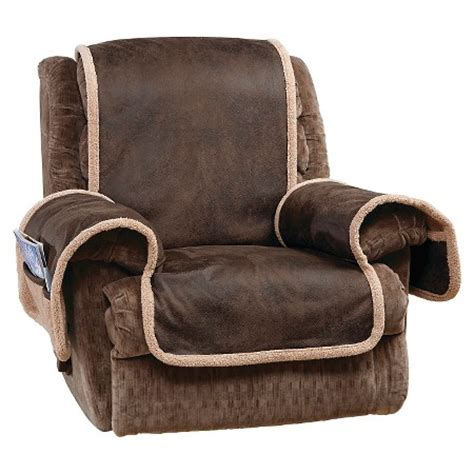 Covers For Recliners Vintage Leather Recliner Furniture Cover Brown Sure Fit Target
