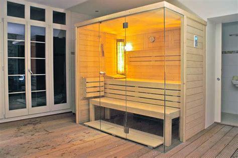 sauna mit glasfront sauna hersteller massivholz b r saunabau
