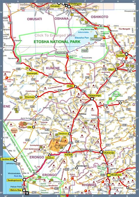 Oppi F5 map of namibia africa road map bd version 2010