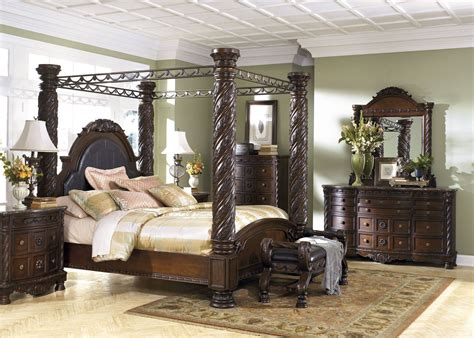 shore canopy bedroom set shore poster canopy bedroom set from b553 coleman furniture