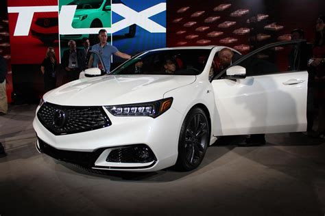 new auto the 2018 acura tlx is unveiled ahead of the new york auto