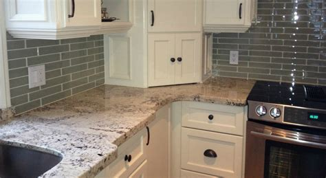 Renovate Kitchen Cabinets by Arctic Cream Granite Flat Eased Edge Northern Marble